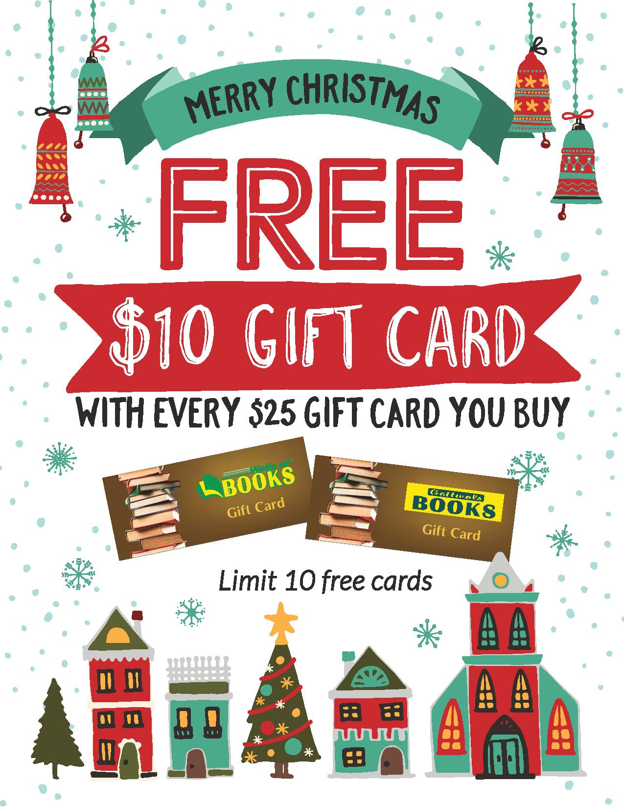 free 10 gift card cool gifts sulli giles gottwals books - Christmas Gift Card Deals